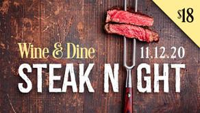 WINE & DINE : Steak Night