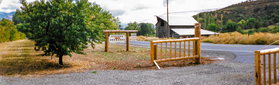 Entry Gate and Sign      (Summer 1984)