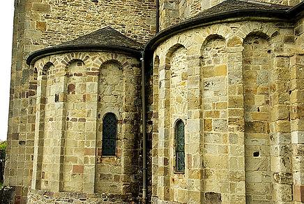 Chevet de l'Eglise de Lubersac