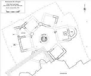 Cathédrale de Limoges plan baptistère