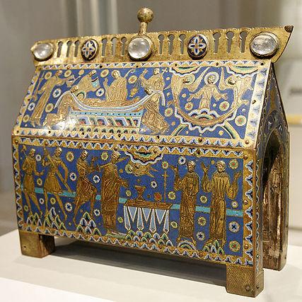 Reliquary Saint Thomas Becket enamels chasses