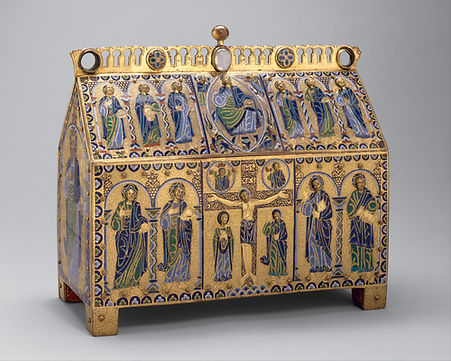 chasse reliquary limoges enamel