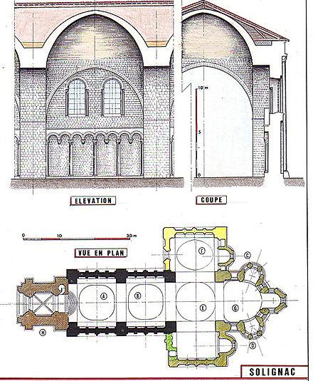 Plan de l'Abbaye de Solignac