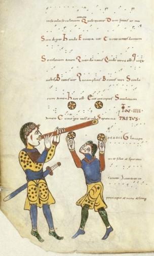 Premières représentations de jongleurs au XIème siècle