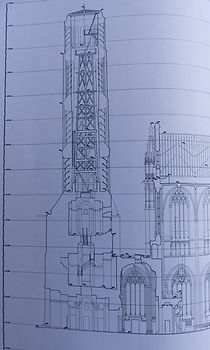 Clocher plan cathédale Limoges
