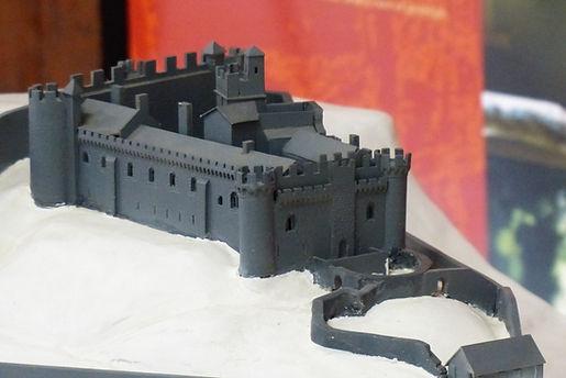 Maquette du chateau de Chalucet