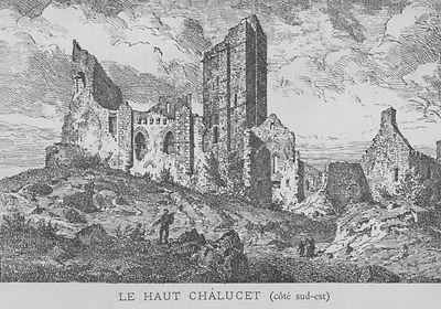 Gravure du chateau de Chalucet