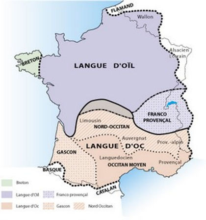 carte langues oil occitan