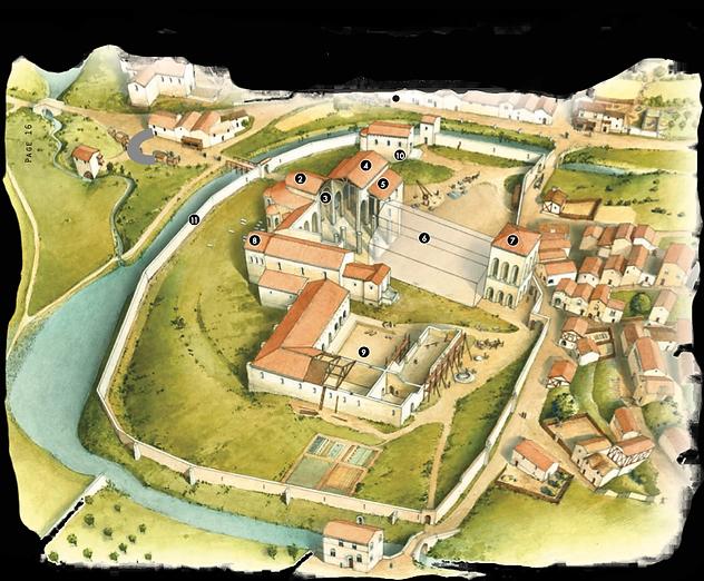 Abbaye Saint Martial de Limoges XIème siècle