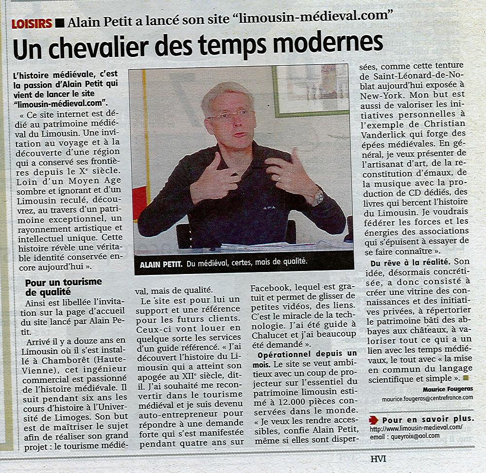 Presse 2 Le Populaire lancement du site.jpg