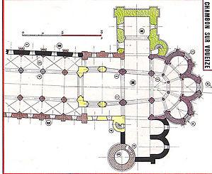 Plan Abbaye de Chambon sur Voueize