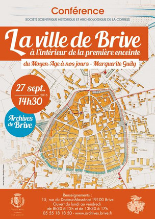 La ville de Brive à l'intérieur de la première enceinte au Moyen Age