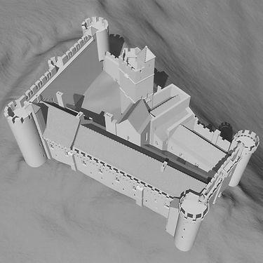 Maquette 3d du chateau de Chaluce