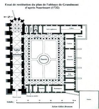 Plan Abbaye de Grandmont