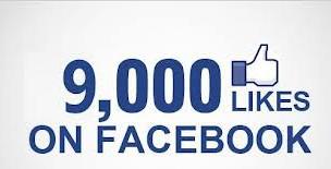 La page facebook dépasse les 9 000 likes