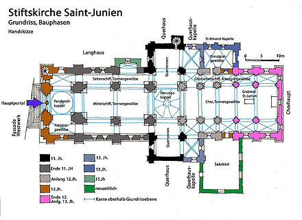Collégiale Saint-Junien plan