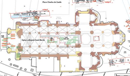 Plan de la Collégiale de Brive-la-Gaillarde