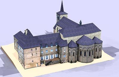 Maquette Abbaye Saint-André Meymac
