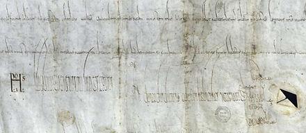 Chart de l'abbaye de Solignac