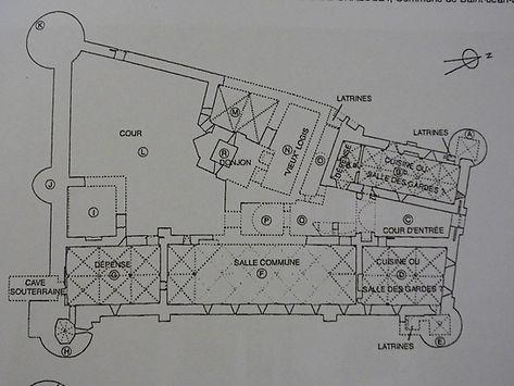 Plan du chateau de Chalucet