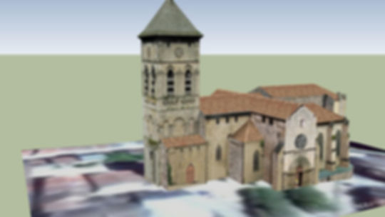 Collégiale Eymoutiers 3d warehouse