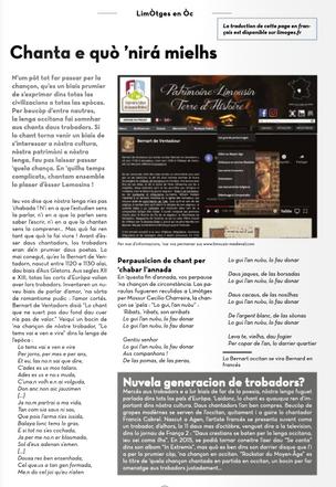 Les troubadours et la langue limousine occitane