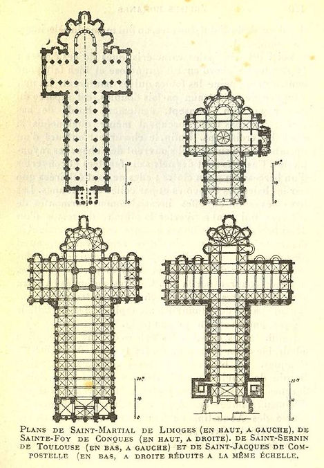 Plans des églises de pèlerinage