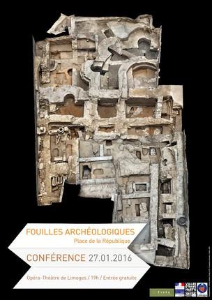 Conférence sur les fouilles de l'abbaye de Saint-Martial