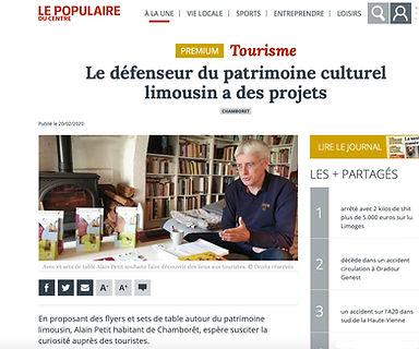 Article Journal Le Populaire Limousin Médiéval