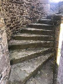 Escalier chateau de Comborn