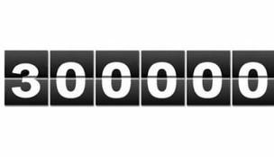300 000 connections sur notre site web