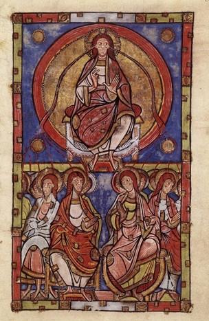 En ce lundi de Pentecôte - Illustration du Sacramentaire de Saint-Etienne de Limoges