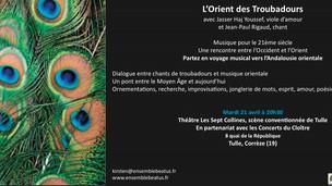 """Concert """"L'Orient des Troubadours"""""""