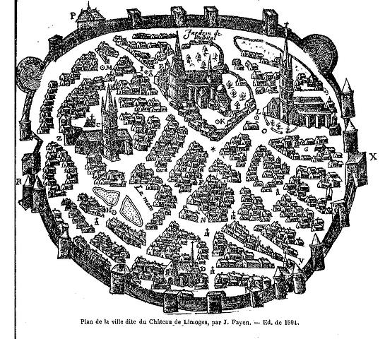 Plan du château de Limoges