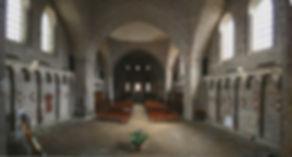 Abbaye Solignac nef coupoles