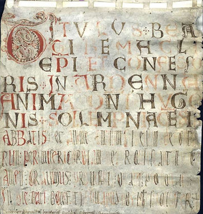 Abbaye Solignac rouleau des mors
