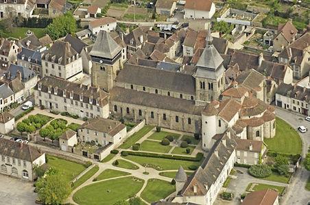 Vue drone Abbaye de Chambon sur Voueize