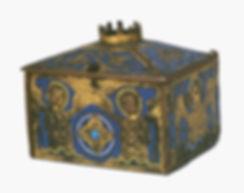 Coffret eucharistique émaillé de Donzenac