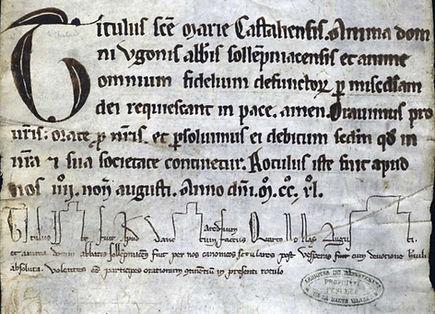 Abbaye Solignac rouleau des morts