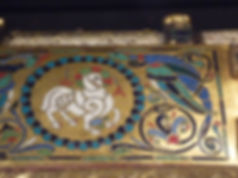 Coffre eucharistique émaillé Santo Domingo Silo