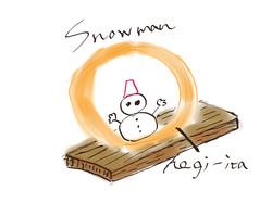 へぎ板雪だるま