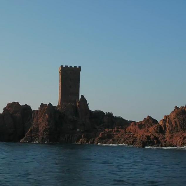 Bord de mer Var en drone CAVEM Saint Raphaël/Fréjus