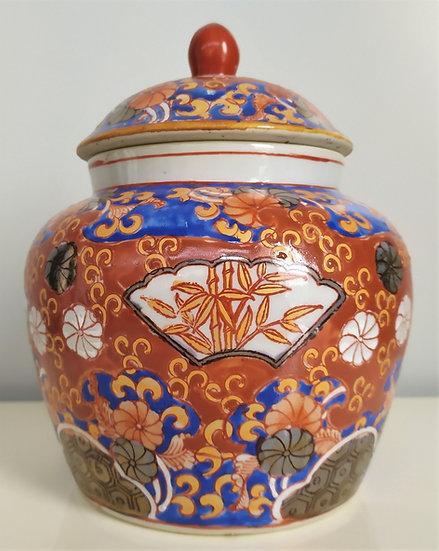 Potiche in ceramica policroma - Giappone XX sec.