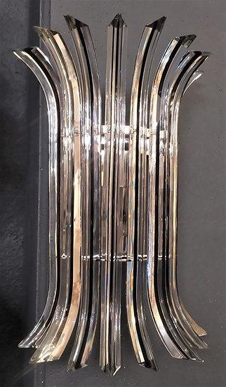 Alberto Donà - Applique a triedri curvi in vetro di Murano