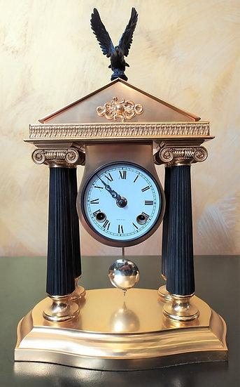"""Orologio da tavolo in ottone dorato e bronzo """"L'Originale"""""""