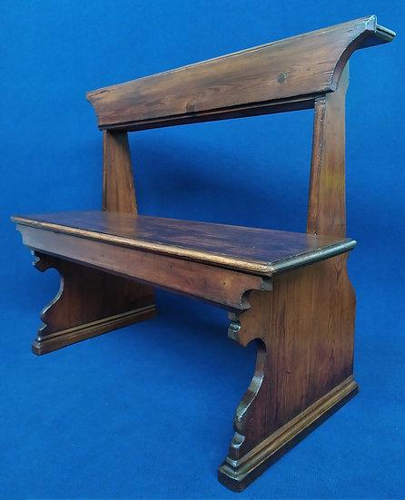 Panca ecclesiastica in legno - Italia XVIII sec.