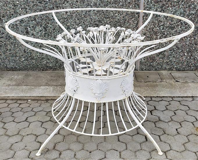 Base per tavolo in ferro battuto con fiori cm Ø 120