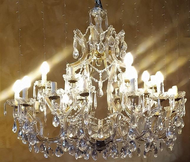 Grande lampadario Maria Teresa in vetro - 25 luci