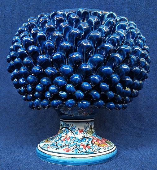 Vaso blu e azzurro cm 30 h - ceramica di Caltagirone