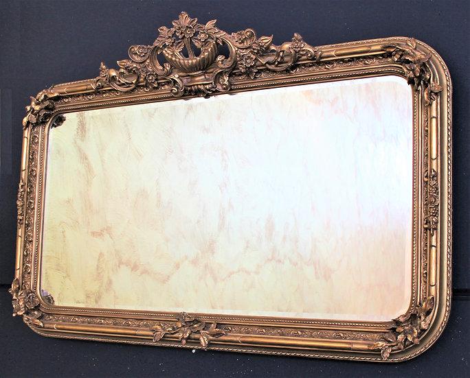 Grande specchiera rettangolare dorata (1) - XX sec.
